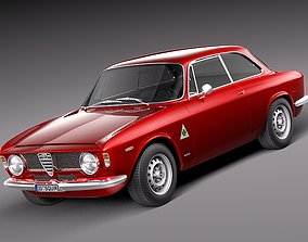 3D model Alfa Romeo Giulia GTA 1965-1969
