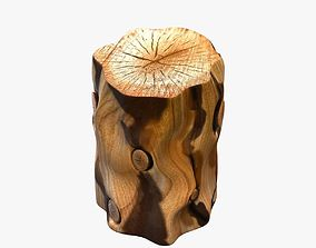 West elm Natural Tree Stump Side Table 3D model