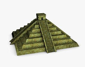 3D asset Ancient tikal aztec pyramid