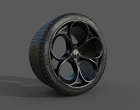 3D asset Alfa Romeo Rim and Tire