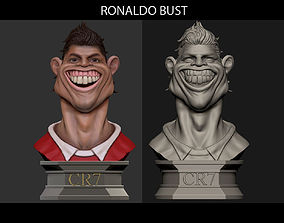 3D printable model Ronaldo Football scupltures - Padory