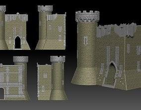 3D asset game-ready Medieval Castle