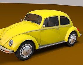 3D asset Volkswagen Beetle 1969