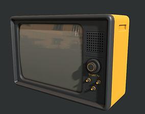 3D model low-poly Retro Television Set