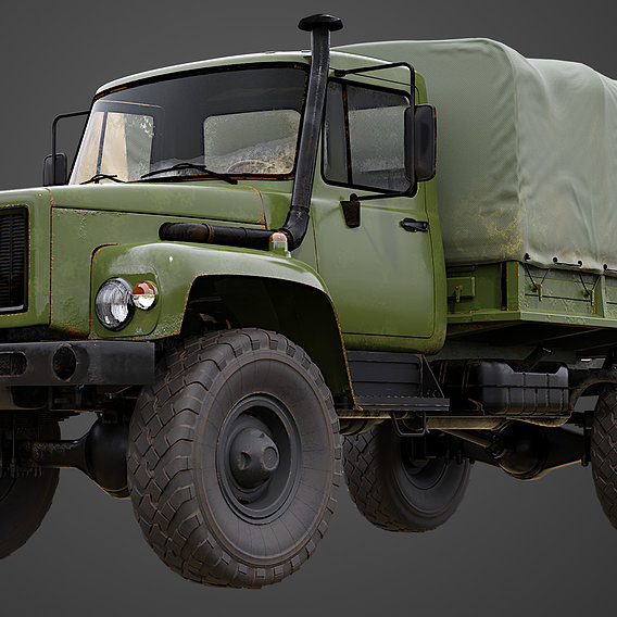 Military truck GAZ-3308 Sadko