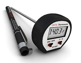 Digital Cooking Thermometer 2 3D model