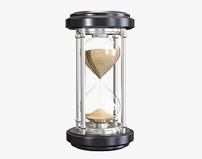 Hourglass sandglass egg sand timer clock 06 3D model