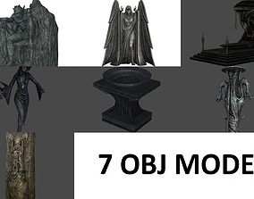 3D model Collection Ancient statue B1 - B7