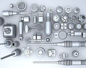3D model set Technic Part Set 2