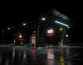 Gas station gas 3D model