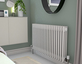 3D asset traditional style radiator 100cm