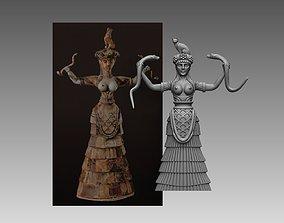 3D print model Minoan snake goddess figurines Knossos