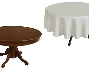 3D asset Wood table 1200