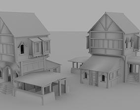 Medieval Big House 3D asset