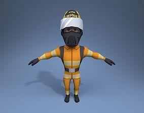 Fire Fighter 3D model