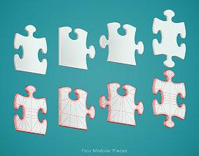 3D model Puzzle Modular Pieces