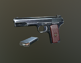 3D model realtime TT-33 Pistol