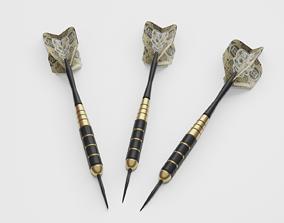 Darts arrow 3D model