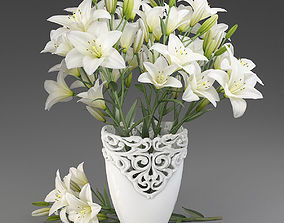 3D model Bouquet of lilies-1