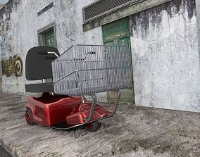 Electric Shopping Cart for DAZ Studio 3D model