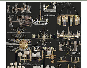realtime Chandeliers collection 3d models 10 pieces