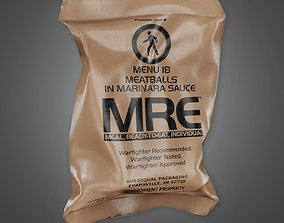 3D asset Military Rations Meal - MLT - PBR Game Ready