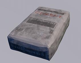 Cement bag 3D asset