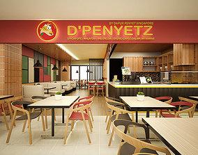 3D food Simple Restaurant