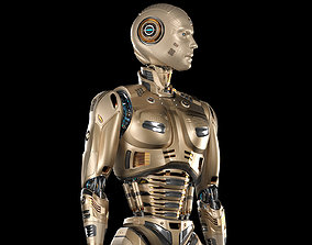 3D animated Robot Man 2 Rigged BASIC EDITION