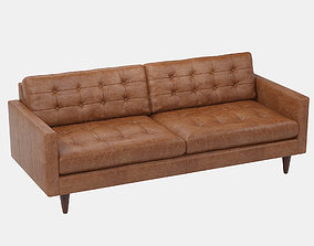 Joybird Eliot Leather Sofa 3D model