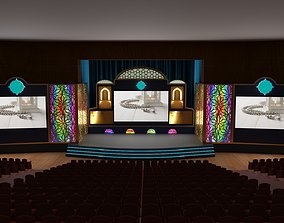 3D model Orientalist Stage Design