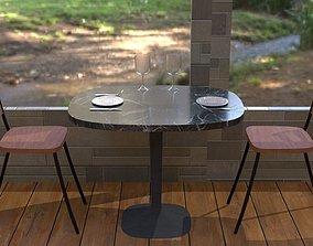 3D asset VR / AR ready Dining Table