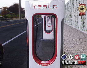 3D asset Tesla Supercharger