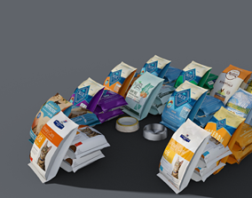 Pack Food Pet E Pot 3D asset