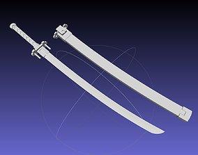 Kill La Kill Satsuki Sword And Sheath Printable Assembly