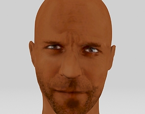 Jason statham head actor action movie 3D print realtime