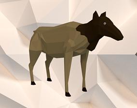 3D asset Caribou Doe
