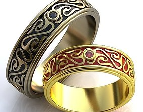 weddingrings gold Gold Metal Rings 3D printable model