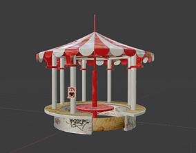 game-ready High Quality Circus Themed Gazebo 3D model