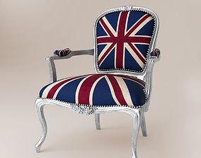 Union jack armchair ID 0002 3D