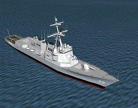 Burke Class Destroyer DDG 89 USS Mustin 3D