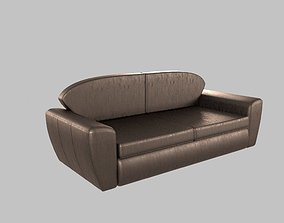 Leather sofa 3D couch