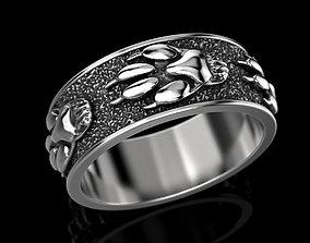 3D print model Ring wolf paw