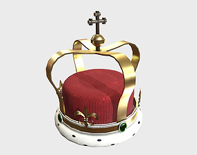 Low Poly PBR Royal Crown 3D asset