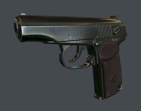 Makarov pistol 3D asset