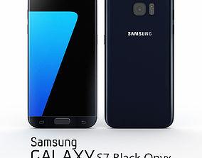3D model Samsung Galaxy S7 Black Onyx