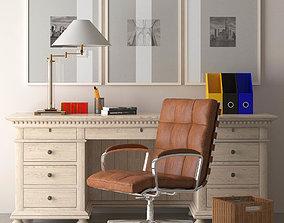Office Furniture Set 3D asset