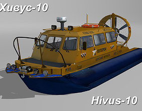 3D asset Hivus 10 Amphibious Hovercraft