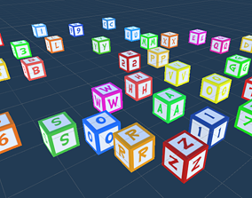 3D model Numbers and Chars Play Cubes