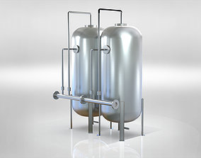 Vertical capacity metering system 3D model